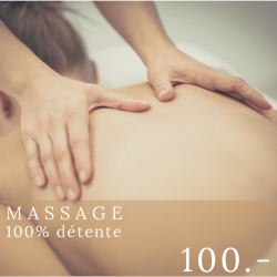 100% détente - Massage - 60...